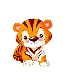 Vinilo Tigre Infantil