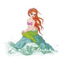 Vinilo Infantil Sirenita Mar