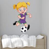 Vinilo Chica Futbolista